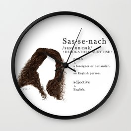 Sassenach Definition Outlander Wall Clock