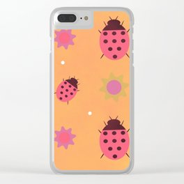 Lady Bugs Clear iPhone Case