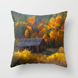 Hope Valley Fall Colors Festival, Sierra Nevada Throw Pillow