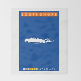 South Shore - Long Island. Throw Blanket
