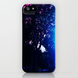 Bright Lights with Trees iPhone Case
