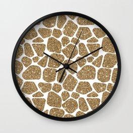 Glitter Giraffe Animal Print Pattern Wall Clock