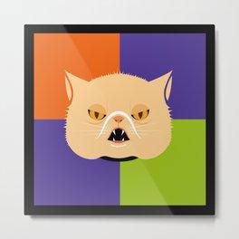 Vampire cat Metal Print