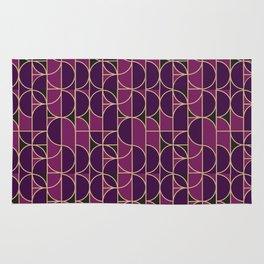 Art Deco Morning Dance In Purple Rug