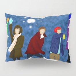1D Snow Fight Pillow Sham
