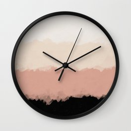 Abstract Rose Color Flora Blush Wall Clock
