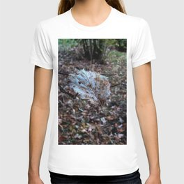 Leaf floating in the air T-shirt