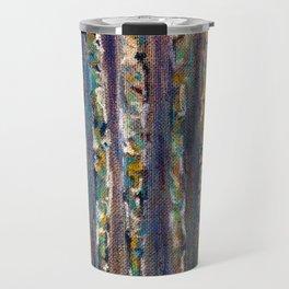 Abstract Birch Trees Travel Mug