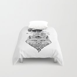 Fox Space Forest Duvet Cover