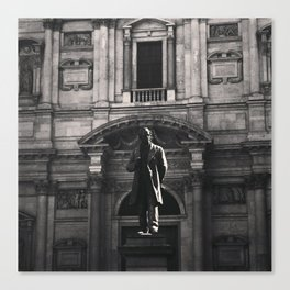.statue's humanity. Canvas Print