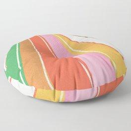 Rainbow World #2 Floor Pillow