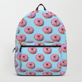 Flat lay donuts seamless pattern Backpack