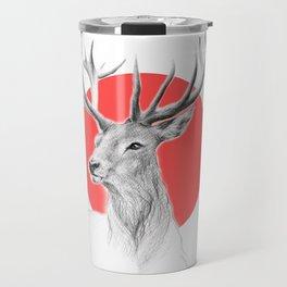 Deer | red Travel Mug