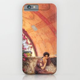 Unconscious Rivals 1893 by Sir Lawrence Alma Tadema | Reproduction iPhone Case