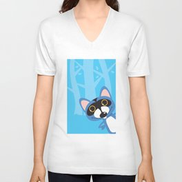 The famous Blue Racoon. Unisex V-Neck