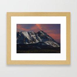 Sunrise over the Gore Range Framed Art Print