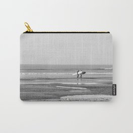 Two surfers on the beach Carry-All Pouch