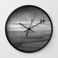 south africa Wall Clocks featuring Surfing South Africa by David Turner