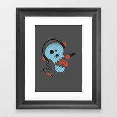 Calavera rockera / Rocking skull Framed Art Print