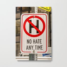 NO HATE Inspire Kindness Metal Print