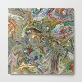 Abstract Oil Painting 12 Metal Print