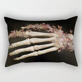 """""""Spring 1"""" skull and flowers Rectangular Pillow"""