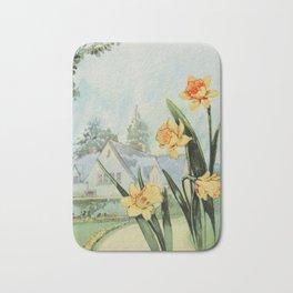 Garden Flowers 1926 - Daffodil Bath Mat
