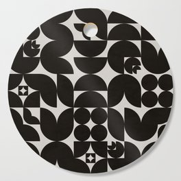 Black & White Mid Century Modern Pattern Cutting Board