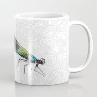 dragonfly Mugs featuring Dragonfly by Matt McVeigh