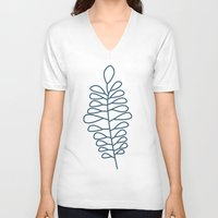 fern V-neck T-shirts featuring Fern by Suzanne Designs