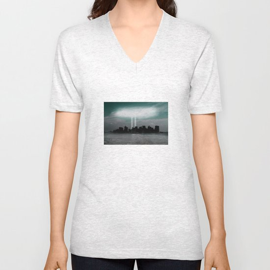 Renewal - New York City skyline Unisex V-Neck