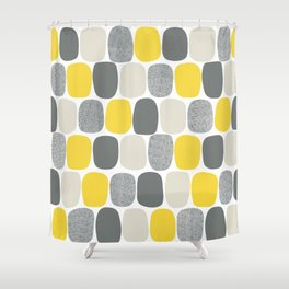 Wonky Ovals in Yellow Shower Curtain