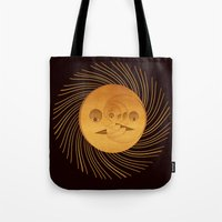 sun and moon Tote Bags featuring sun-moon by Vila Propuh