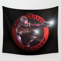 guardians of the galaxy Wall Tapestries featuring StarLord - Guardians of the Galaxy by Leamartes