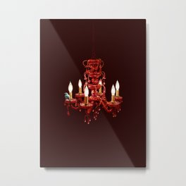 Crimson Perch Metal Print