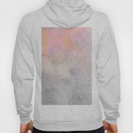 Pastel Candy Iridescent Marble on Concrete Hoody