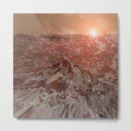 Day 0007 /// Crater Grater Sunrise Metal Print