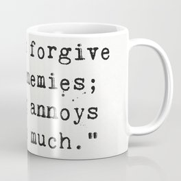 Oscar Wilde quote about enemies Coffee Mug