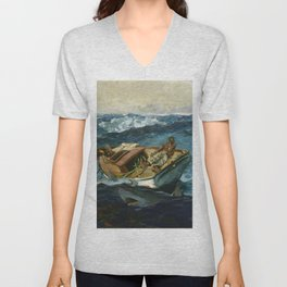 Winslow Homer1 - The Gulf Stream - Digital Remastered Edition Unisex V-Neck