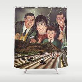 Family Freeway Fun Shower Curtain