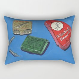 Ink Dip Pen Nib Containers in Gouache Rectangular Pillow