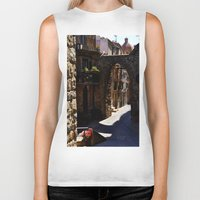 street Biker Tanks featuring street by  Agostino Lo Coco