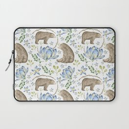 Bears in Blue Flowers Laptop Sleeve