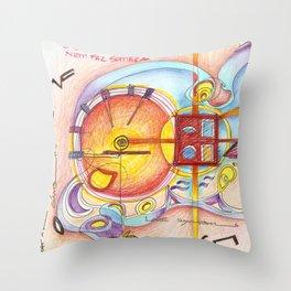 symbols on the walls Throw Pillow