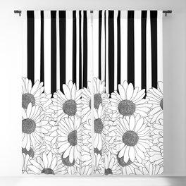 Daisy Stripe Blackout Curtain