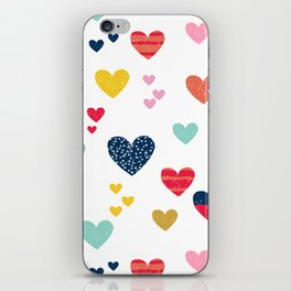 cheerful hearts iPhone Skin
