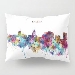 Madison Skyline Silhouette Pillow Sham