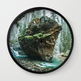 Johnston Canyon Lower Falls Banff National Park Canada Ultra HD Wall Clock