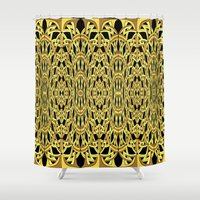 versace Shower Curtains featuring kinda looks like Versace by Gabriel J Galvan