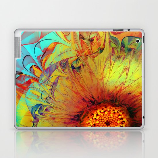 Sunflower Abstract Laptop & iPad Skin